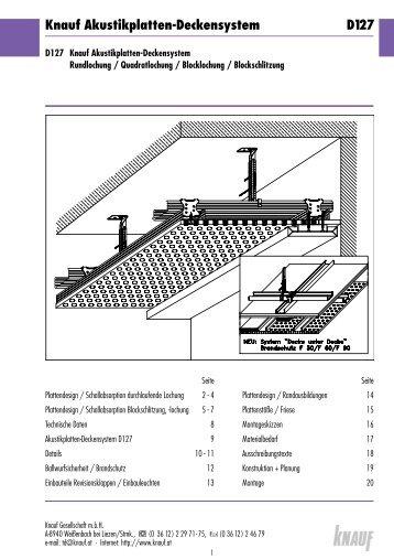 Knauf Akustikplatten-Deckensystem D127