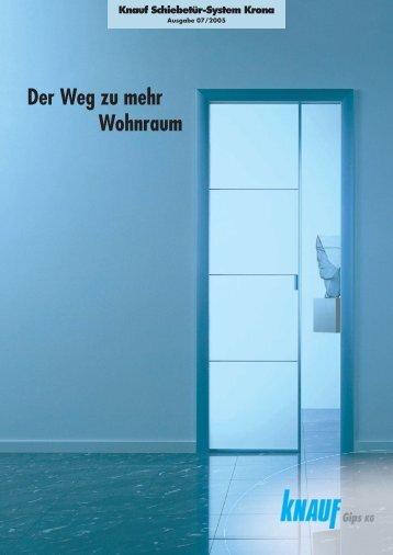Der Weg zu mehr Wohnraum Knauf Schiebetür-System Krona