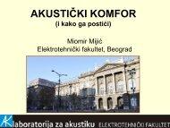 Akustički komfor - Knauf Insulation