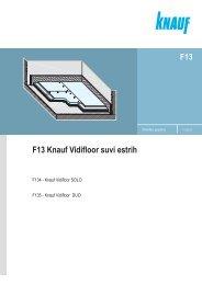 F13 Knauf Vidifloor suvi estrih