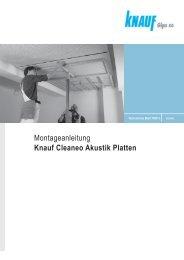 Montageanleitung Knauf Cleaneo Akustik Platten