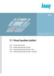 D11 Knauf spušteni plafoni