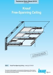 Knauf Free-Spanning Ceiling D131