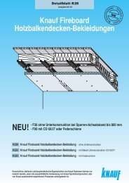 Fireboard-Holzbalkendecken-Bekleidung A1 K28 - Knauf