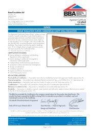 BBA Certificate 13/4969 Supafil CarbonPlus - Knauf Insulation