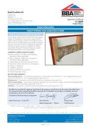BBA IWI System - Knauf Insulation