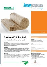 Earthwool® Rafter Roll - Knauf Insulation
