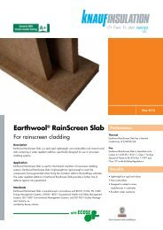 Earthwool® RainScreen Slab - Knauf Insulation