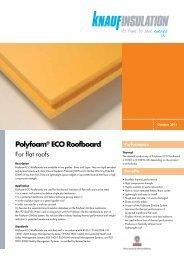 Polyfoam® ECO Roofboard - Knauf Insulation