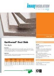 Earthwool® Duct Slab - Knauf Insulation