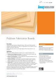 Polyfoam Fabrication Board - Knauf Insulation