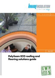 Polyfoam ECO roofing and flooring solutions guide - Knauf Insulation
