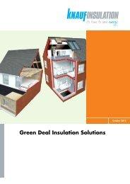 Green Deal Insulation Solutions - Knauf Insulation