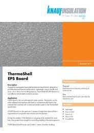 ThermoShell EPS Board - Knauf Insulation