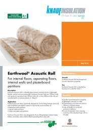 Earthwool® Acoustic Roll - Knauf Insulation