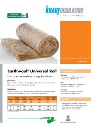 Earthwool® Universal Roll - Knauf Insulation