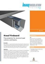 Datasheet - Knauf Fireboard - Knauf Insulation