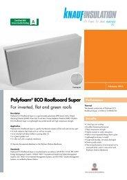 Polyfoam® ECO Roofboard Super - Knauf Insulation