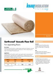 Earthwool® Acoustic Floor Roll - Knauf Insulation