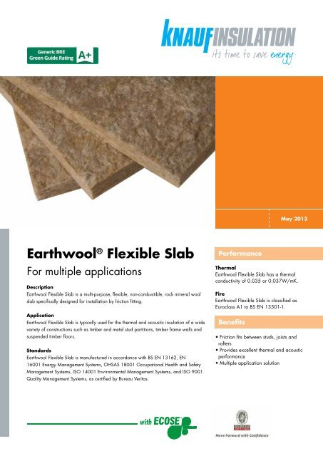 Earthwool® Flexible Slab - Knauf Insulation