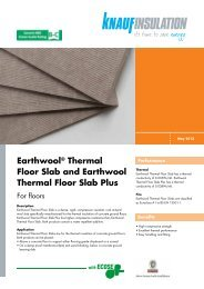 Earthwool® Thermal Floor Slab and Earthwool ... - Knauf Insulation