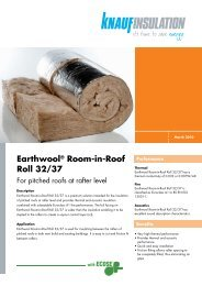 Earthwool® Room-in-Roof Roll 32/37 - Jackson Building Centres