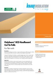 Polyfoam® ECO Roofboard Cut-To-Falls - Knauf Insulation