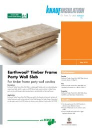 Earthwool® Timber Frame Party Wall Slab - Knauf Insulation