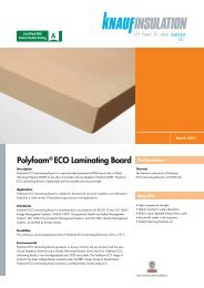 Polyfoam® ECO Laminating Board - Knauf Insulation