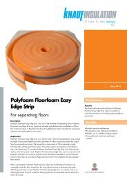 Datasheet - Polyfoam Floorfoam Easy Edge Strip - Knauf Insulation