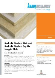 Rocksilk FireTech and Noggin Slab - Knauf Insulation