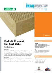 Rocksilk Krimpact Flat Roof Slabs - Knauf Insulation