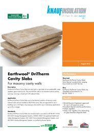 Earthwool® DriTherm Cavity Slabs - Knauf Insulation