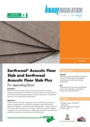 Earthwool® Acoustic Floor Slab and Earthwool ... - Knauf Insulation