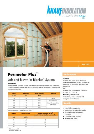 Perimeter PlusTM - Knauf Insulation