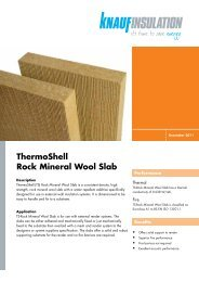 ThermoShell Rock Mineral Wool Slab - Knauf Insulation