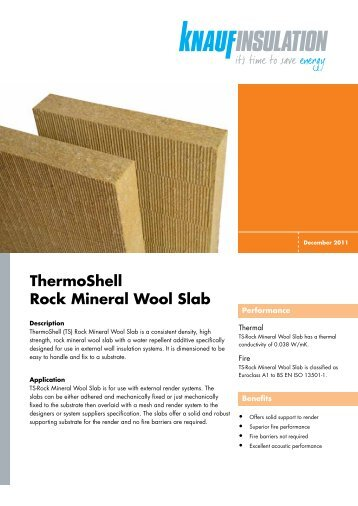 90 free magazines from knaufinsulation co uk for Rockwool insulation properties