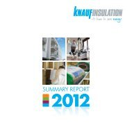 Sustainability Report 2012 Summary - Knauf Insulation