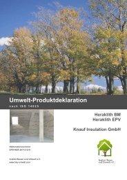 Umwelt-Produktdeklaration - Institut Bauen und Umwelt