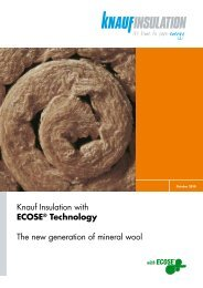 ECOSE® Technology brochure - Knauf Insulation
