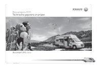 Buscampers 2013 Technische gegevens en prijzen - Knaus