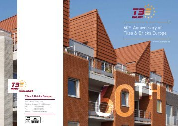 """TBE 60th Anniversary"" brochure, 2012 - Tiles & Bricks Europe / Home"