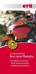 Checkliste für Motorrad - GTÜ