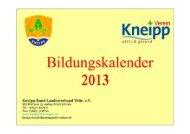 Angebote, offen für alle Interessenten - Kneipp-Bund ...