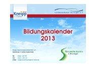 Untitled - Kneipp-Bund Landesverband Thüringen eV