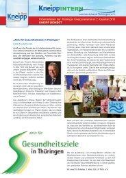 Informationen der Thüringer Kneippvereine im 2. Quartal 2013 ...
