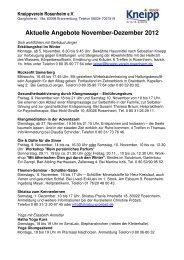 Aktuelle Angebote November - Dezember 2012 - Kneipp-Verein ...