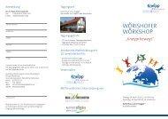 Veranstaltungsflyer inklusive Programm - Kneipp-Bund e.V.