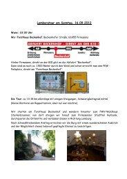 Lembergtour am Sonntag, 16.09.2012 - Kneipp-Verein Spiesen eV