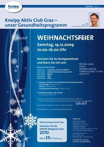 WEIHNACHTSFEIER - Kneippbund